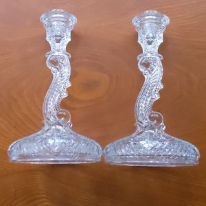 Indiana Glass Candle Sticks, Vintage, No.303
